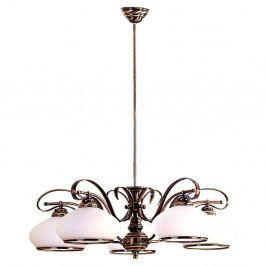 Pětiramenné závěsné svítidlo Glimte Patina, ⌀ 23 cm
