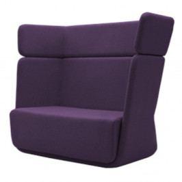 Tmavě fialové křeslo Softline Basket Eco Cotton Lilac