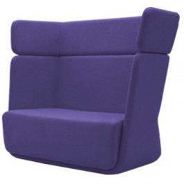 Modrofialové křeslo Softline Basket Vision Lilac
