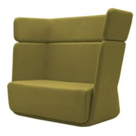 Zelené křeslo Softline Basket Eco Cotton Lime