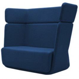 Tmavě modré křeslo Softline Basket Felt Melange Dark Blue
