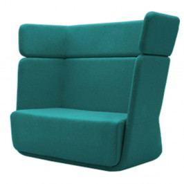 Tyrkysové křeslo Softline Basket Eco Cotton Turquoise