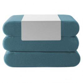 Tyrkysový rozkládací puf Softline Bingo Vision Turquoise