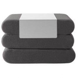 Tmavě šedý rozkládací puf Softline Bingo Eco Cotton Grey White