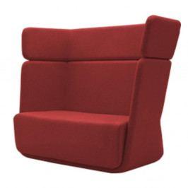 Červené křeslo Softline Basket Eco Cotton Red
