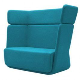 Tyrkysové křeslo Softline Basket Felt Melange Turquoise