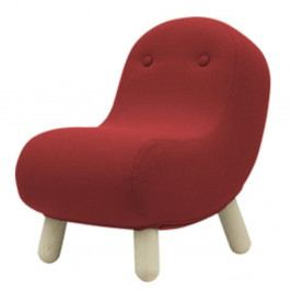 Červené křeslo Softline Bob Eco Cotton Red