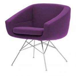 Tmavě fialové křeslo Softline Aiko Vision Purple