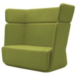 Zelené křeslo Softline Basket Felt Melange Lime