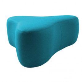 Tyrkysový puf Softline Chat Felt Melange Turquoise, délka 90 cm