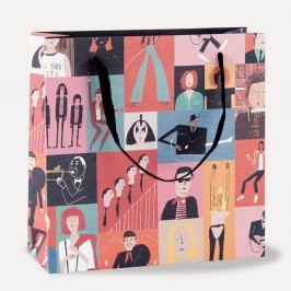 Dárková taška U Studio Design Musicians, 21,6 x 21,6 cm