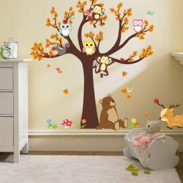 Nástěnná samolepka Ambiance Tree with Animals