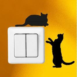 Sada 2 samolepek Ambiance Cute Cats