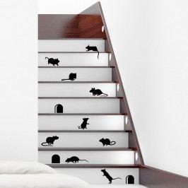 Sada 12 samolepek Ambiance Funny Stairs
