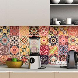 Sada 30 dekorativních samolepek na stěnu Ambiance La Valette, 20 x 20 cm