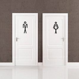 Samolepka Ambiance Bathroom Men Women, 20 x 15 cm