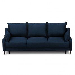 Modrá rozkládací třímístná pohovka súložným prostorem Mazzini Sofas Ancolie