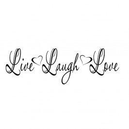 Vinylová samolepka na stěnu Live Laugh Love, 92x29cm