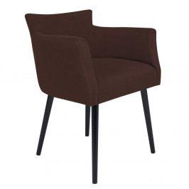 Tmavě hnědá židle s područkami Windsor & Co Sofas Gemini