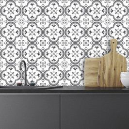 Sada 24 nástěnných samolepek Ambiance Wall Decals Traditional Tiles, 20 x 20 cm