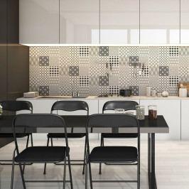 Sada 9 nástěnných samolepek Ambiance Wall Decal Cement Scandinavian Tiles Finland, 15 x 15 cm