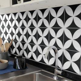 Sada 9 nástěnných samolepek Ambiance Wall Decal Tiles Enzo, 20 x 20 cn
