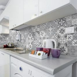 Sada 24 nástěnných samolepek Ambiance Wall Decal Cement Tiles Azulejos Micalina, 15 x 15 cm
