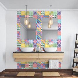 Sada 24 nástěnných samolepek Ambiance Wall Decal Cement Tiles Azulejos Emilifia, 15 x 15 cm