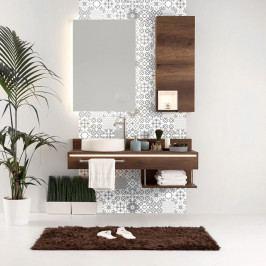 Sada 24 nástěnných samolepek Ambiance Wall Decal Tiles Azulejos Badgio, 15 x 15 cm