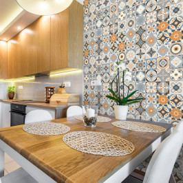Sada 30 nástěnných samolepek Ambiance Wall Stickers Cement Tiles Azulejos Montecinos, 10 x 10 cm