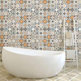 Sada 60 nástěnných samolepek Ambiance Wall Decal Cement Tiles Azulejos Vincinda, 15 x 15 cm