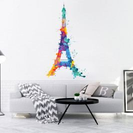 Nástěnná samolepka Ambiance Wall Decal Eiffel Tower Design Watercolor, 70 x 40 cm