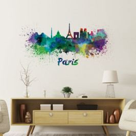 Nástěnná samolepka Ambiance Wall Decal Paris Design Watercolor, 60 x 125 cm