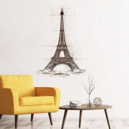 Nástěnná samolepka Ambiance Wall Decal Eiffel Tower Drawing, 85 x 60 cm