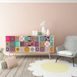 Sada 60 samolepek na nábytek Ambiance Tiles Stickers For Furniture Ugo, 20 x 20 cm