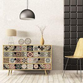 Sada 30 samolepek na nábytek Ambiance Tiles Stickers For Furniture Cineloto Mento, 15 x 15 cm