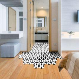 Sada 10 samolepek na podlahu Ambiance Floor Stickers Hexagons Bernardo, 40 x 90 cm