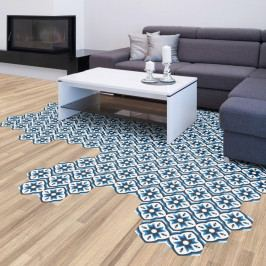 Sada 10 samolepek na podlahu Ambiance Floor Stickers Hexagons Felica, 40 x 90 cm