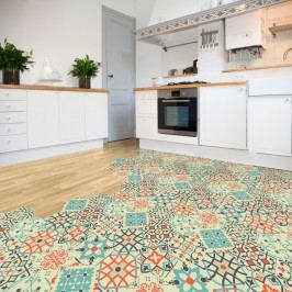 Sada 10 samolepek na podlahu Ambiance Floor Stickers Hexagons Lieva, 40 x 90 cm