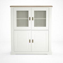 Bílá dřevěná vitrína Artemob Campton