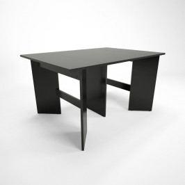 Černý dřevěný rozkládací jídelní stůl Artemob Bruno