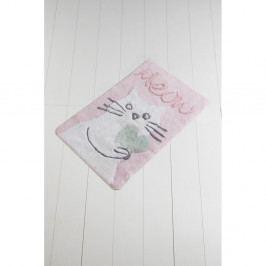 Růžovo-bílá koupelnová předložka Crasso Crisie, 100 x 60 cm