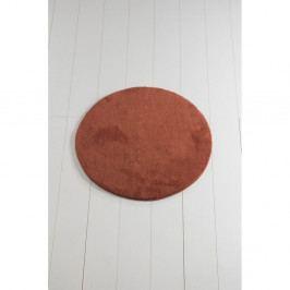 Cihlově červená koupelnová předložka Colors of Cap, ⌀ 90 cm