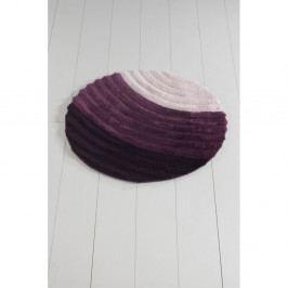 Fialová koupelnová předložka Well Cap, ⌀ 90 cm