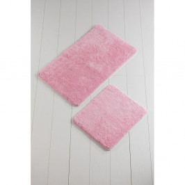 Sada 2 růžových koupelnových předložek Color of Candy Pink