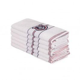 Sada 6 béžových bavlněných ručníků Beyaz Lucmenno, 30 x 50 cm