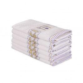 Sada 6 béžových bavlněných ručníků Beyaz Cantajo, 30 x 50 cm