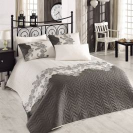 Sada prošívaného přehozu přes postel a polštáře Single 309, 160x220 cm