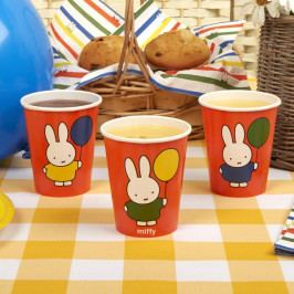 Sada 8 papírových kelímků Neviti Miffy Birthday
