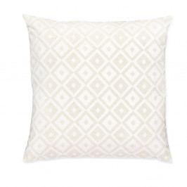 Bílý polštář Casa Di Bassi Whyte Audrey, 50 x 50 cm